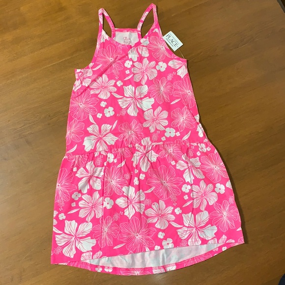 The Childrens Place Pink Floral Sundress M 7/8 NWT